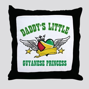 Daddy's little Guyanese Princess Throw Pillow