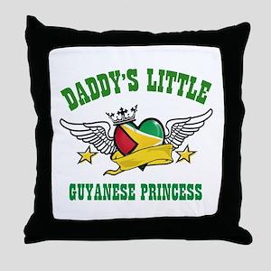 Daddy's little Guyanese Princess Throw Pillow