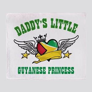 Daddy's little Guyanese Princess Throw Blanket