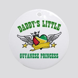Daddy's little Guyanese Princess Ornament (Round)