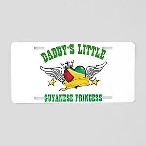 Daddy's little Guyanese Princess Aluminum License