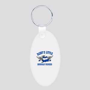 Daddy's Little Honduran Princess Aluminum Oval Key