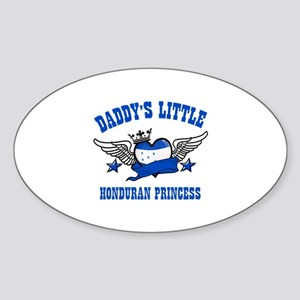 Daddy's Little Honduran Princess Sticker (Oval)