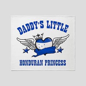 Daddy's Little Honduran Princess Throw Blanket