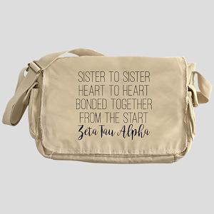 Zeta Tau Alpha ZTA Sorority Sisterhood Messenger B