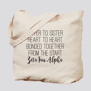 Zeta Tau Alpha ZTA Sorority Sisterhood Tote Bag