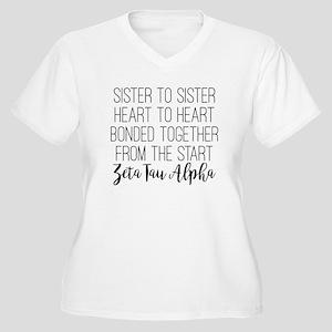 Zeta Tau Alpha ZTA Sorority Sisterhood Plus Size T