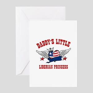 Daddy's little Liberian Princess Greeting Card
