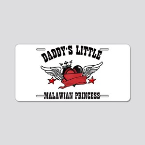 Daddy's Little Malawian Princess Aluminum License
