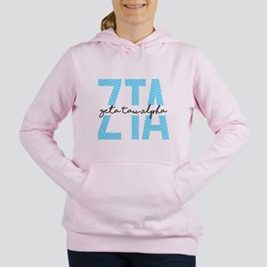 Zeta Tau Alpha Blue Polka Dot Sweatshirt