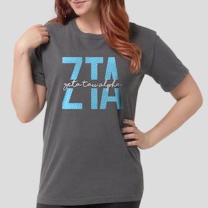 Zeta Tau Alpha Blue Polka Dot Womens Comfort Color