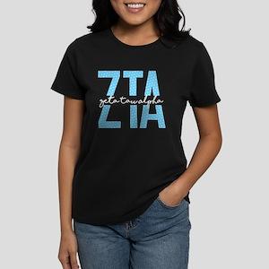 Zeta Tau Alpha Blue Polka Dot T-Shirt