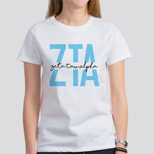 Zeta Tau Alpha Blue Polka Dot T-Shirt