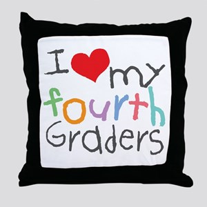 I Love My 4th Graders Throw Pillow