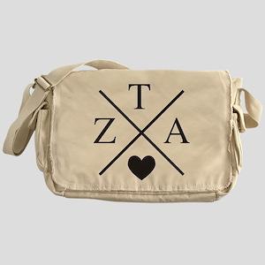 Zeta Tau Alpha ZTA Sorority Heart Cross Messenger