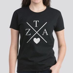 Zeta Tau Alpha ZTA Sorority Heart Cross T-Shirt