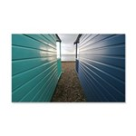 Beach huts 22x14 wall peel
