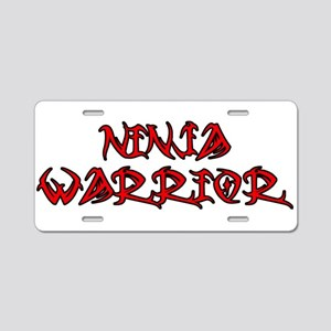 Ninja Warrior Aluminum License Plate