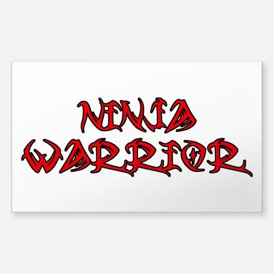 Ninja Warrior Sticker (Rectangle)
