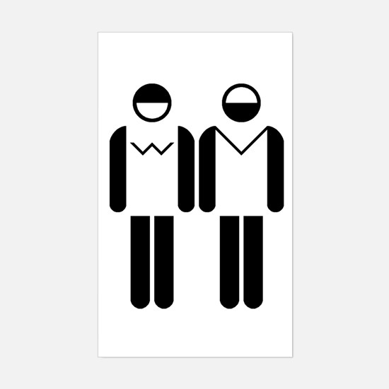 Bathroom Icons Rectangle Decal
