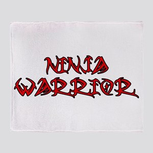Ninja Warrior Throw Blanket