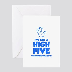High five greeting cards cafepress high five greeting card m4hsunfo