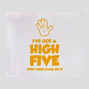 High Five Throw Blanket