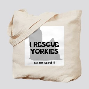 I RESCUE Yorkies Tote Bag