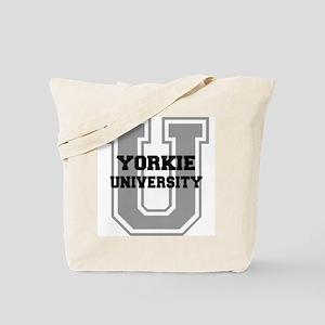 Yorkie UNIVERSITY Tote Bag
