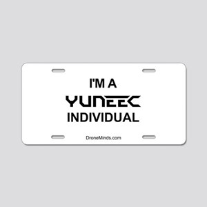 Yuneec Individual Aluminum License Plate