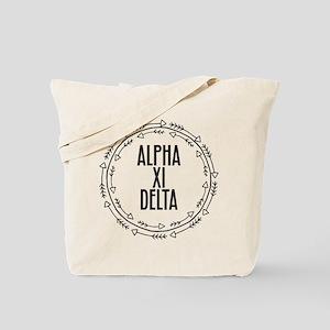 Alpha Xi Delta Sorority Arrow Tote Bag