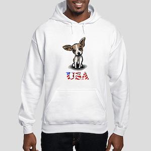 USA Chihuahua Hooded Sweatshirt