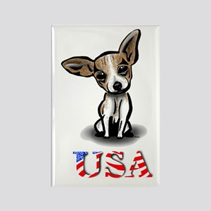 USA Chihuahua Rectangle Magnet