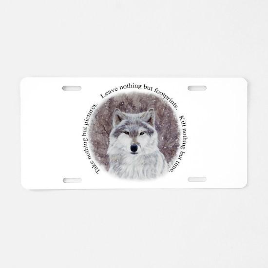 Timeless Wisdom Aluminum License Plate
