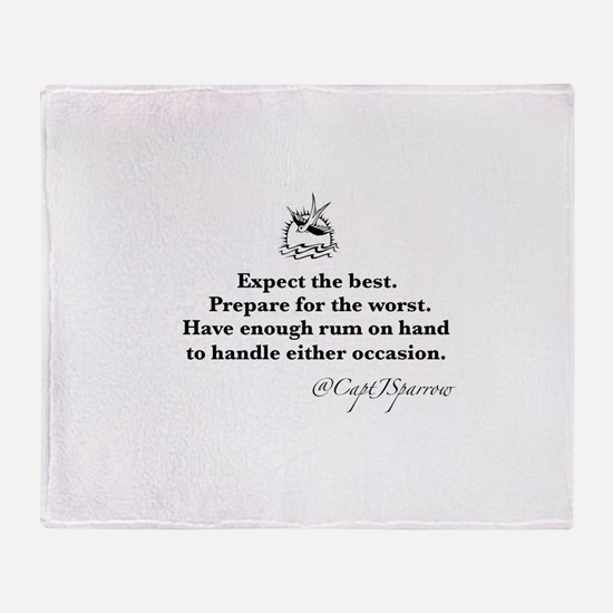 Expect the Best Throw Blanket