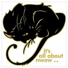Funny Kitty Cat Kitten Wall Art Poster
