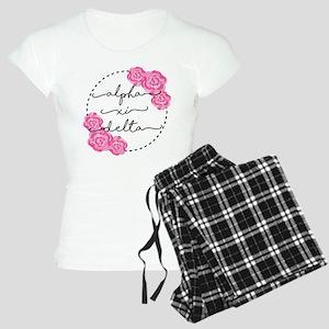 Alpha Xi Delta Sorority Pink Rose Pajamas