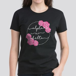 Alpha Xi Delta Sorority Pink Rose T-Shirt