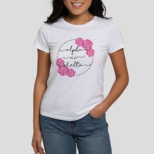 Alpha Xi Delta Sorority Pink Rose T-Shirt