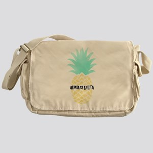 Alpha Chi Delta Sorority Pineapple Messenger Bag