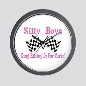DRAG RACING IS FOR GIRLS Wall Clock