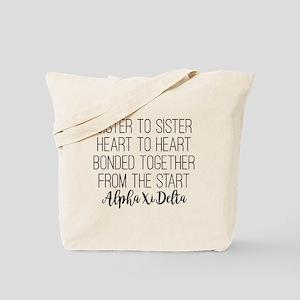 Alpha Xi Delta Sorority Sister to Sister Tote Bag