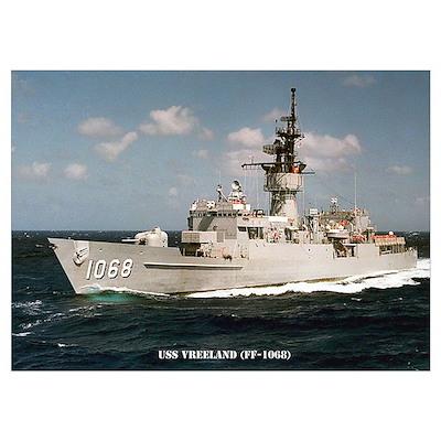 USS VREELAND Wall Art Poster