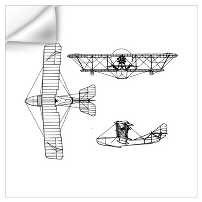 Airplane blueprint wall art wall decal malvernweather Gallery