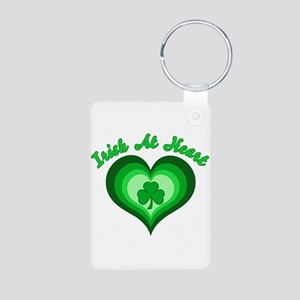 Irish At Heart Aluminum Photo Keychain