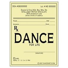 Prescription Dance Antique Wall Art Poster