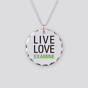 Live Love Examine Necklace Circle Charm