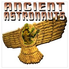 Ancient Astro Wings Wall Art Poster