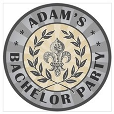 Adam's Personalized Bachelor Party Wall Art Poster