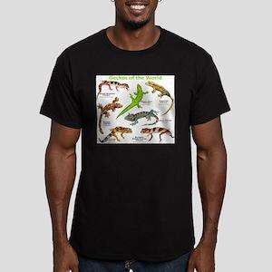 Geckos of the World Men's Fitted T-Shirt (dark)